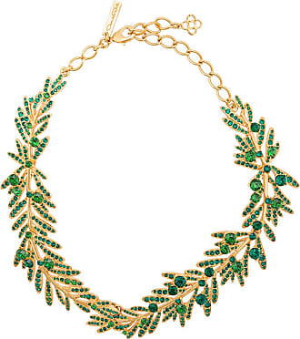 tropical palm necklace - Green Oscar De La Renta MM3dQ