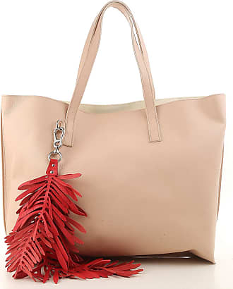 P.A.R.O.S.H. Tote Bag On Sale, coral red, Leather, 2017, one size