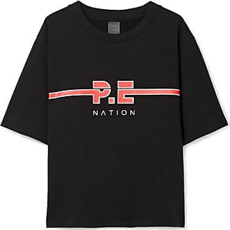 The Dartford Printed Cotton-jersey T-shirt - Black P.E Nation Free Shipping Great Deals Supply Cheap Online Outlet Finishline Release Dates Newest nW1URzATRf