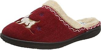 Damen Tabby Hausschuhe, Red (42 Red), 39.5 EU Padders
