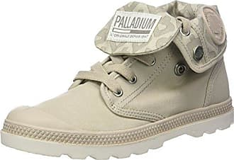 Palladium Damen Pallabrouse Mid LP Sneaker, Weiß (White/Moonbeam/Floral Print), 37.5 EU