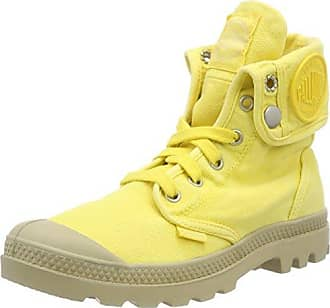 BAGGY - Botas de aventura para mujer, - Grey-Yellow, 35.5 Palladium