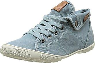 27Ch221-620640, Chaussons Sneaker Femme - Vert (Türkis 640), 38 EUDockers by Gerli