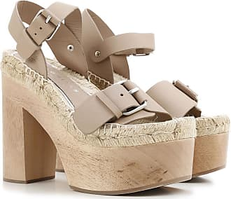 Sandals for Women On Sale, Taupe, Suede leather, 2017, 3.5 5.5 7.5 Paloma Barcel