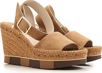 Sandals for Women On Sale in Outlet, Taupe, Suede leather, 2017, 5.5 Paloma Barceló