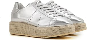Sneakers for Women On Sale in Outlet, Manuel Barcelo, Silver, Leather, 2017, 7.5 Paloma Barcel