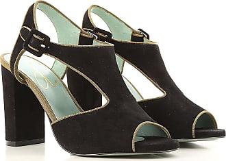 Sandals for Women On Sale, Black, Fabric, 2017, EUR 36 - UK 3 - USA 5.5 EUR 38 - UK 5 - USA 7 Paola d'Arcano