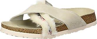 Daytona, Sandalias de Punta Descubierta para Mujer, Blanco (Cozy Off White), 40 EU Papillio