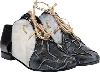 Derbys aus Leder in Grau für Damen, Größe 39 Papucei