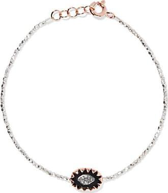 Montauk 9 Carats En Or Rose, Argent Sterling, Bakélite Et Bracelet De Diamants - Taille Pascale Monvoisin