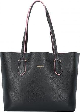 Patrizia Pepe Borsa Sac à main porté épaule cuir 34 cm black shiny gold rF8Sjd