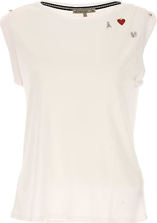 T-Shirt for Women On Sale, White, polyester, 2017, 1a -- Eu 38/40 Patrizia Pepe