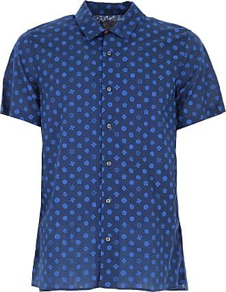Shirt for Men On Sale, navy, linen, 2017, S - IT 46 M - IT 48 L - IT 50 XL - IT 52 Paul Smith