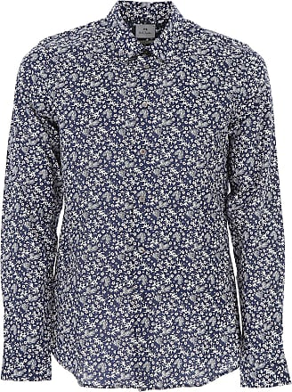 Shirt for Men On Sale, navy, Cotton, 2017, S - IT 46 L - IT 50 XL - IT 52 Paul Smith