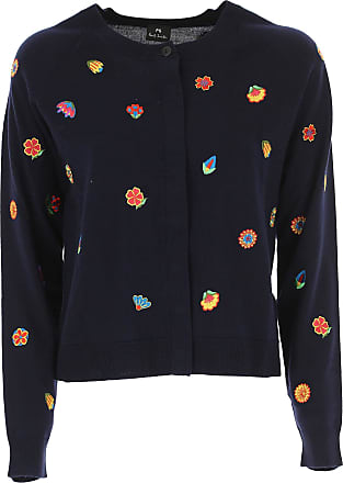 Sweater for Women Jumper On Sale, Blue Ink, merino wool, 2017, 10 12 8 Paul Smith