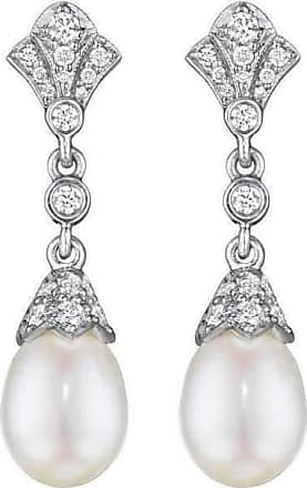 Penny Preville Diamond Pearl Drop Earrings on Posts vNQdylaPFt