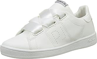 Pepe Jeans London Brompton Embroidery, Zapatillas Mujer, Blanco (White), 38 EU