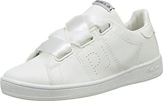Pepe Jeans London Gery Bass, Zapatillas Mujer, Blanco (White), 40 EU