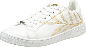 London Damen Club Flowers Sneakers, Weiß/Mehrfarbig, 38 EU Pepe Jeans London