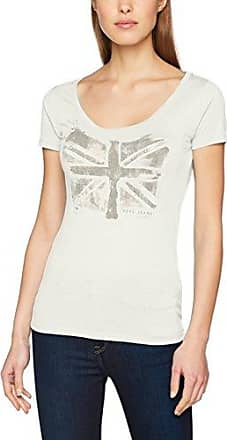 Pepe Jeans London Olivia, Camiseta para Mujer, Blanco (Off White), X-Small