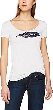 Pepe Jeans London Aitana, Camiseta para Mujer, Blanco (Off White), Large