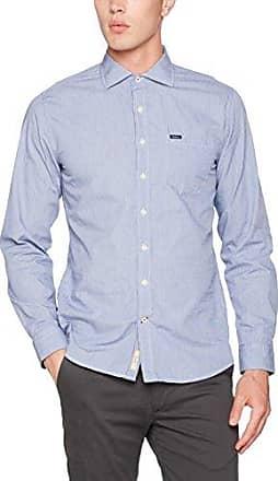 Worthing, Camisa para Hombre, Azul (Blue Black), Medium Pepe Jeans London
