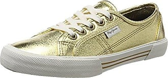 Pepe Jeans London Industry Met, Sneakers Basses Femme, (Gold), 37 EU