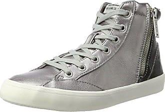 Rieker L9413 - Sneaker a Collo Alto Donna, Rosa (Rose/White-Silver), 39 EU