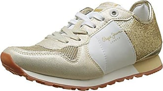 London, Sneakers Basses Femme, Argent (Silver), 38 (EU)Pepe Jeans London