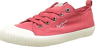 Pepe Jeans London Gery Anglaise, Zapatillas Mujer, Rojo (Spicy Red), 36 EU