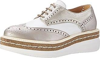 Peperosa 3402/1, Zapatos Derby de Cuña Mujer, Plateado (Mocha), 40 EU