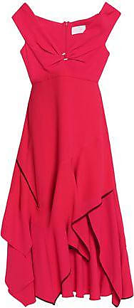 Peter Pilotto Woman Asymmetrical Taffeta One-shoulder Midi Dress Tomato Red Size 16 Peter Pilotto M6c1i