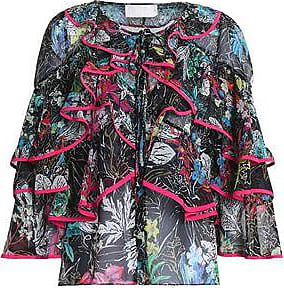 Peter Pilotto Woman Pussy-bow Ruffle-trimmed Silk Blouse Midnight Blue Size 8 Peter Pilotto Outlet Nicekicks With Credit Card Cheap Price Cheap Store Release Dates Cheap Online Outlet Websites aYzxudPr