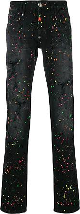 Pants for Men On Sale, Black, Cotton, 2017, L M S Philipp Plein
