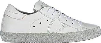 Damenschuhe Turnschuhe Damen Leder Schuhe Sneakers Madeline Weiß EU 36 A18EVBLDV014 Philippe Model zsj7TC2