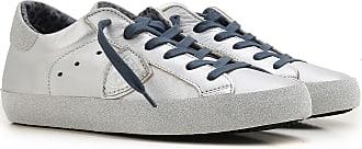 Sneaker für Damen, Tennisschuh, Turnschuh Günstig im Sale, Eiffel, Weiss, Leder, 2017, 38 39 40 Philippe Model