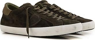 Sneaker für Herren, Tennisschuh, Turnschuh Günstig im Sale, Marineblau, Wildleder, 2017, 40 41 44 45 Philippe Model