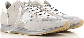 Sneaker für Herren, Tennisschuh, Turnschuh Günstig im Sale, Hellgrau, Seide, 2017, 39 41 42 43 44 one size Philippe Model