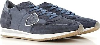 Chaussures De Sport Pour Les Hommes En Vente, Bleu Denim, Tissu, 2017, 43 Modèle Philippe