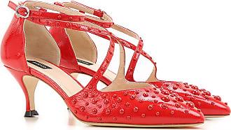 Zapatos de Tacón de Salón Baratos en Rebajas, Fresa, Piel, 2017, 36 37 38 40 Pinko