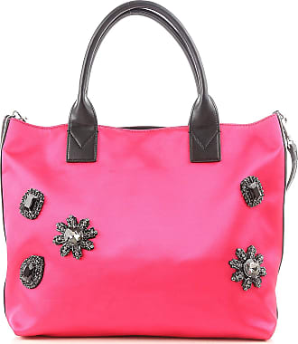 Pinko Tote Bag On Sale, fuxia, Fabric, 2017, one size