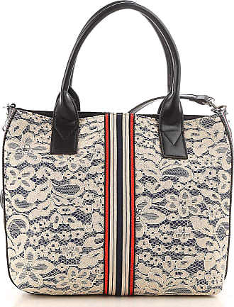 Pinko Tote Bag On Sale, Denim, Denim, 2017, one size