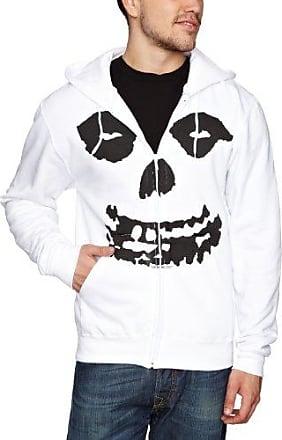 Plastichead Misfits All Over Skull HSWZ - Sudadera para hombre, color blanco, talla XL Plastic Head