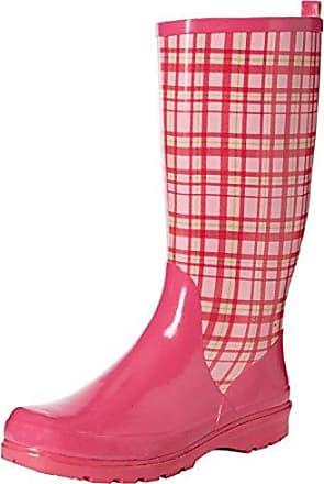 Playshoes Trendiger Damen Gummistiefel Karo 190107, Damen Gummistiefel, Pink (rose 14), EU 36