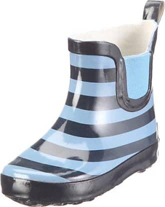 Playshoes Gummistiefel Ringel nieder 180359 - Botas para niños, color azul, talla 18