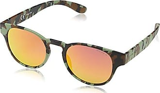 Police Lunette De Soleil S1949 Game 1 Ronde, Semi Matt Turquoise Camouflage Frame/green Mirror Lens