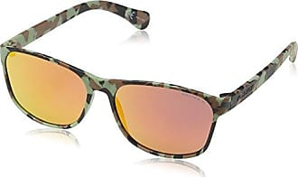 Police Lunette De Soleil S1951 Master 1 Ronde, Brown Wood Effect Frame/light Yellow/mirror Silver Lens