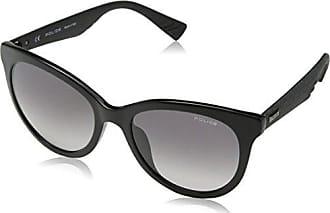 Police Sunglasses Damen Sonnenbrille Sparkle 1, Schwarz (Shiny Black), 48