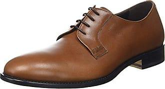 PB10532C01UM0 - Zapatos Oxford de Cuero Mujer, Color Azul, Talla 43 EU Pollini
