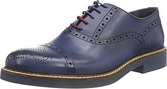 Pollini M.Shoe, Zapatos de Cordones Brogue para Hombre, Azul (Jeans 707), 42 EU